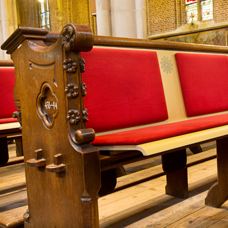 Kerkbanken - Church bench Van Drenth